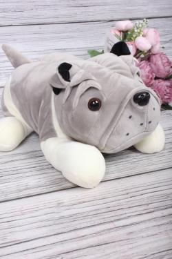 Игрушка мягкая - Собака Шарпей 25см серый
