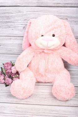 Игрушка мягкая - Ушастый Заяц 40см розовый
