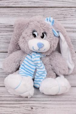 Игрушка мягкая - Заяц Лавлик 20см голубой шарф