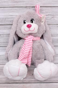 Игрушка мягкая - Заяц Лавлик 32см розовый шарф