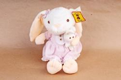 Игрушка мягкая - Заяц с длинными ногами (с зайцем) в розовом платье