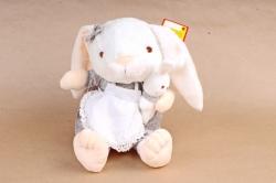 Игрушка мягкая - Заяц с длинными ногами (с зайцем) в сером платье