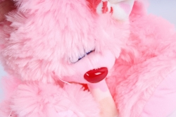 Игрушка мягкая (Г) - Заяц Лавлик-2 розовый 16*30см, арт.1514-30