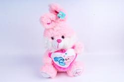 Игрушка мягкая (Г) - Заяц Люми розовый 30см арт. 20271-30