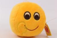 Игрушка мягкая Желтый круг Смайлик Hello 10см, 1587