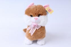 игрушка мягкая - кошка 3 цвета м-2715/25/1 бежевая