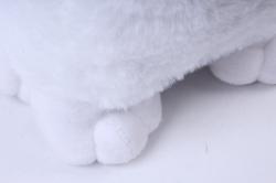 игрушка мягкая - кошка 3 цвета м-2715/25/1 белая