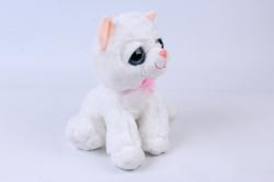 Игрушка мягкая Кошка белая М-3026/30