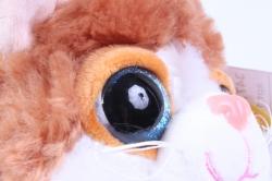 игрушка мягкая кошка белая с рыжим пятном   м-3027