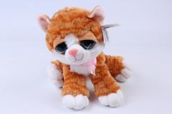 Игрушка мягкая Кошка рыжая полоска М-3026/30