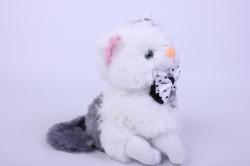 игрушка мягкая кошка с пятном   2438-ма