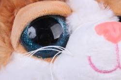игрушка мягкая кошка с рыжим пятном м-3026/30