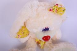 игрушка мягкая кролик большой с длинными ушами кремовый 22см  2165/27/1