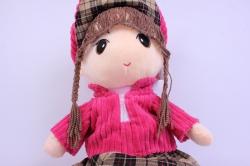 игрушка мягкая кукла малиновая а-1374/70