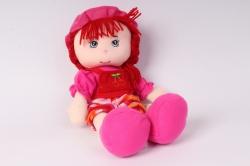 игрушка мягкая кукла малиновая м-3029