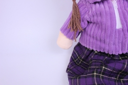 игрушка мягкая кукла сиреневая а-1374/70