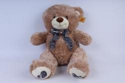 игрушка мягкая - медведь 3 цвета м-3312/48 бежевый