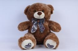 игрушка мягкая - медведь 3 цвета м-3312/48 коричневый