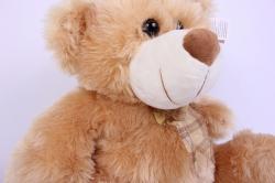 игрушка мягкая медведь бежевый  1523-ма