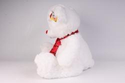 игрушка мягкая медведь белый с заплаткой 48 см 1105/48