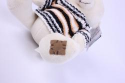 игрушка мягкая медведь белый в свитере   3270-ма