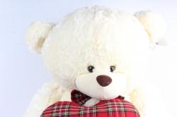 Игрушка мягкая Медведь большой 2 цвета с сердцем М-3363/80
