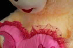 игрушка мягкая медведь большой с сердцем h=75см  ма-15675/75