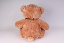 игрушка мягкая медведь кофейный с заплаткой 48 см 1105/48