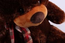 игрушка мягкая медведь коричневый м-1120/48 h=48cm