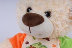 игрушка мягкая медведь мальчик в футболке 32см  3062/32