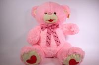 Игрушка мягкая Медведь розовый  60см  1815/60 ЗОО