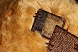 игрушка мягкая медведь рыжий с бантом большой h=70см аг-1712/70