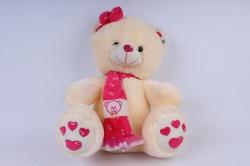 игрушка мягкая медведь с бантиком 50см  1510/50