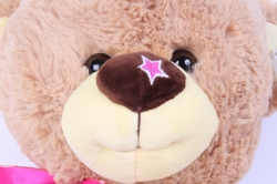 игрушка мягкая медведь с бантом  40см   аг-1678/40