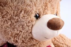 Игрушка мягкая Медведь с бантом бежевый  АГ-1816/70