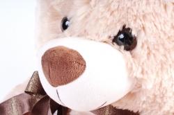 Игрушка мягкая Медведь с бантом Бежевый  50см   АГ-1779/50