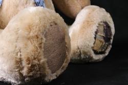 игрушка мягкая медведь с бантом большой h=70см аг-1712/70