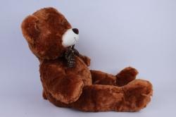 игрушка мягкая- медведь с бантом коричневый 48см   м-1066/48