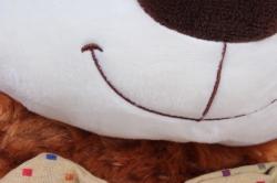 игрушка мягкая - медведь с бантом коричневый м-1064/48