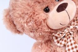 Игрушка мягкая Медведь с бантом коричневый   М-1103/38