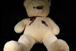 Игрушка мягкая Медведь с бантом молочный  АГ-1816/70