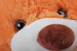игрушка мягкая медведь с бантом рыжий м-1818/60а h=60cm