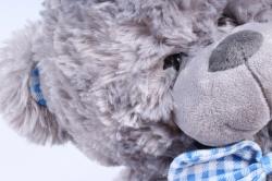 Игрушка мягкая Медведь с бантом серый   М-1103/38