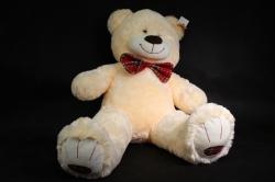 игрушка мягкая- медведь с бантом шампань 48см   м-1066/48