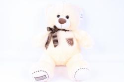 игрушка мягкая медведь с бантом шампань  50см   аг-1779/50