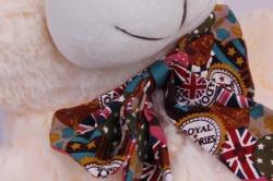 игрушка мягкая - медведь с бантом шампань м-1342/48 h=28cm