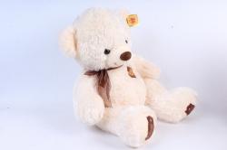 Игрушка мягкая Медведь с бантом шампань 50см  М-2001/50