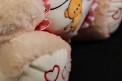 игрушка мягкая медведь с сердцем  h=50см  м-1705/50/1