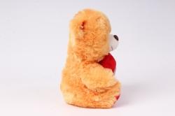 игрушка мягкая медведь с сердцем рыжий м-1700/1