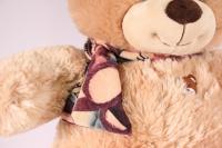 игрушка мягкая медведь с шарфом бежевый1114/38 h=38см